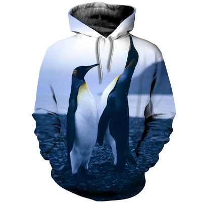 3D All Over Printed Penguin T Shirt Hoodie 1512011