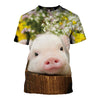 3D All Over Printed Pig T Shirt Hoodie 191202