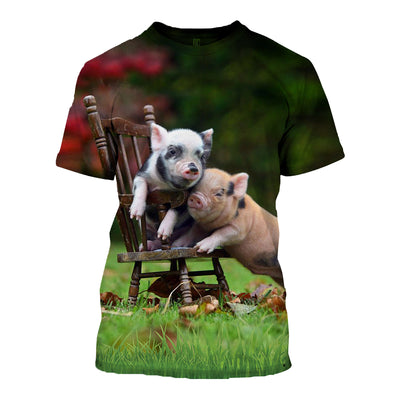 3D All Over Printed Pig T Shirt Hoodie 191206