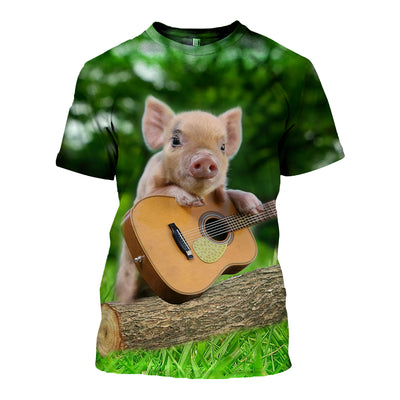 3D All Over Printed Pig T Shirt Hoodie 191209