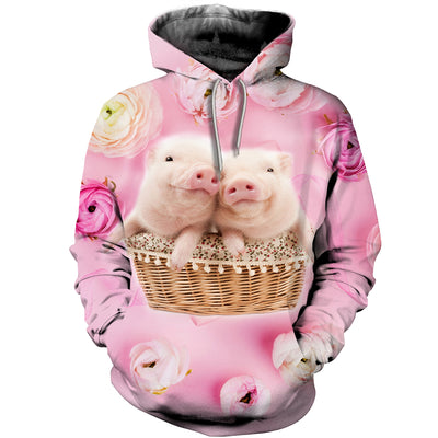 3D All Over Printed Pig T Shirt Hoodie 1912010
