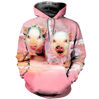 3D All Over Printed Pig T Shirt Hoodie 1912012