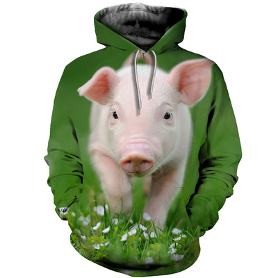 3D All Over Printed Pig T Shirt Hoodie 1912013