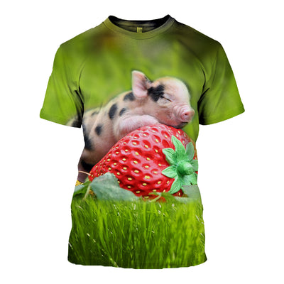 3D All Over Printed Pig T Shirt Hoodie 1912014