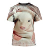 3D All Over Printed Pig T Shirt Hoodie 1912016