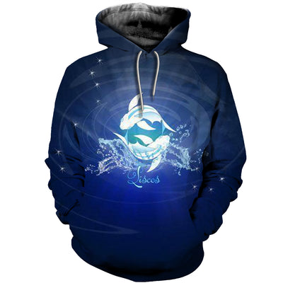 3D All Over Printed Pisces Zodiac T Shirt Hoodie 40104