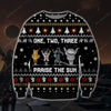 Praise The Sun KNITTING PATTERN 3D PRINT UGLY CHRISTMAS SWEATER