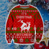 FUNNY CHRISTMAS KNITTING PATTERN 3D PRINT UGLY CHRISTMAS SWEATER