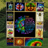 HIPPIE INSPIRATIONAL QUOTES IN WONDERFUL PUZZLES PREMIUM QUILT