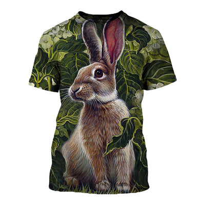 3D All Over Printed Rabbit T Shirt Hoodie 1312012
