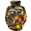3D All Over Printed Raccoon T Shirt Hoodie 11123