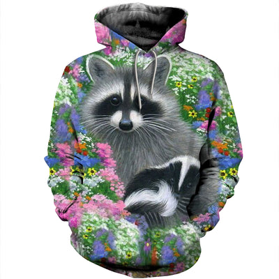 3D All Over Printed Raccoon T Shirt Hoodie 11129