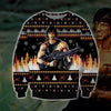 Rambo KNITTING PATTERN 3D PRINT UGLY CHRISTMAS SWEATER