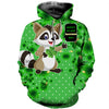 3D All Over Printed Raccoon Patrick Day T Shirt Hoodie 2022019