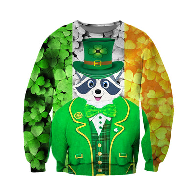 3D All Over Printed Raccoon Patrick Day T Shirt Hoodie