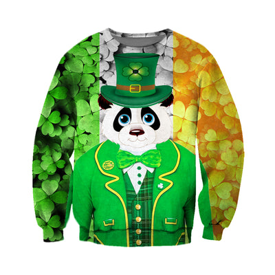 3D All Over Printed Panda Patrick Day T Shirt Hoodie