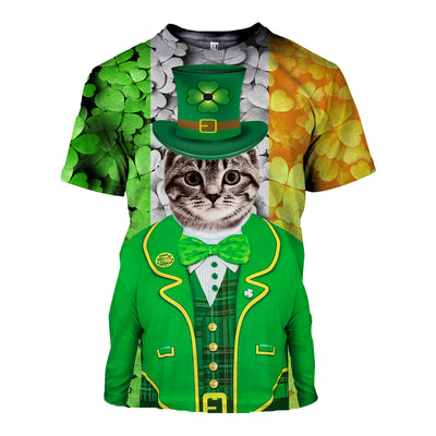 3D All Over Printed Cat Patrick Day T Shirt Hoodie
