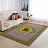 THE SUNFLOWER & A BEE IN MANDALA PATTERN HIPPIE AREA RUG