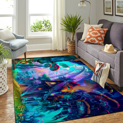 MYSTERIOUS AND WONDERFUL HIPPIE AREA RUG