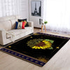 THE COMBINATION OF SUNFLOWER AND MANDALA PATTERN HIPPIE AREA RUG