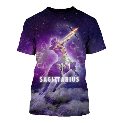 3D All Over Printed Sagittarius Zodiac T Shirt Hoodie 291202