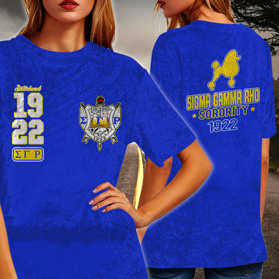 Sigma Gamma Rho Crew Neck Velvet Top Short Sleeve T-Shirt 010720201