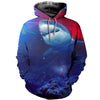 3D All Over Printed Shark T Shirt Hoodie 18121