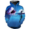 3D All Over Printed Shark T Shirt Hoodie 181210