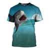 3D All Over Printed Shark T Shirt Hoodie 181212