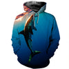 3D All Over Printed Shark T Shirt Hoodie 181214