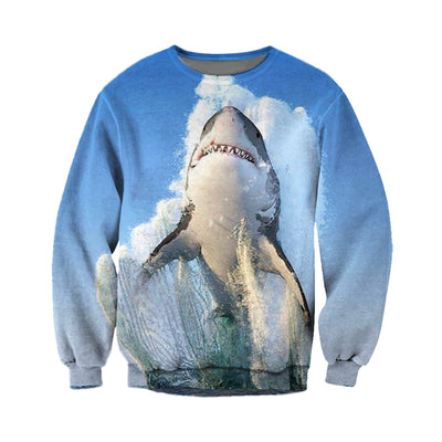 3D All Over Printed Shark T Shirt Hoodie 18122