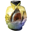 3D All Over Printed Shark T Shirt Hoodie 18123