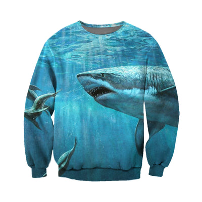 3D All Over Printed Shark T Shirt Hoodie 18124