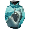 3D All Over Printed Shark T Shirt Hoodie 18126