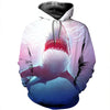 3D All Over Printed Shark T Shirt Hoodie 18127