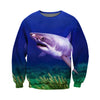 3D All Over Printed Shark T Shirt Hoodie 18129