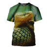3D All Over Printed Snake T Shirt Hoodie 15121
