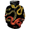 3D All Over Printed Snake T Shirt Hoodie 15123