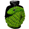 3D All Over Printed Snake T Shirt Hoodie 15127