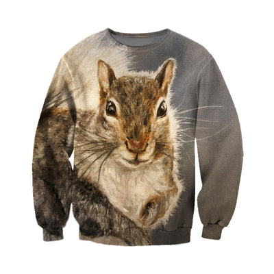 3D All Over Printed Squirrel T Shirt Hoodie 151206