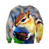 3D All Over Printed Squirrel T Shirt Hoodie 151207