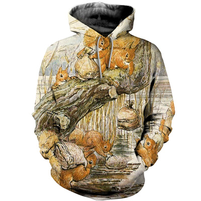 3D All Over Printed Squirrel T Shirt Hoodie 151208