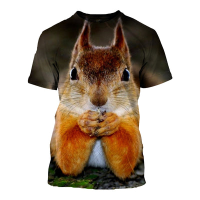 3D All Over Printed Squirrel T Shirt Hoodie 1512010