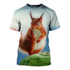 3D All Over Printed Squirrel T Shirt Hoodie 1512012