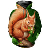 3D All Over Printed Squirrel T Shirt Hoodie 1512013