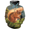 3D All Over Printed Squirrel T Shirt Hoodie 1512014