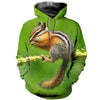 3D All Over Printed Squirrel T Shirt Hoodie 1512015