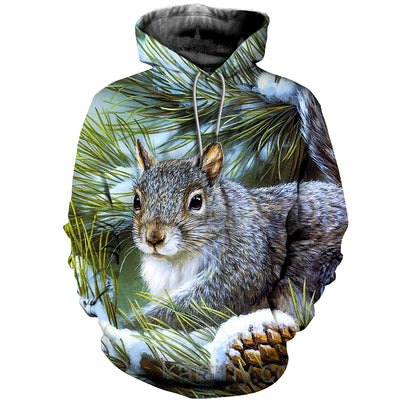 3D All Over Printed Squirrel T Shirt Hoodie 1512016