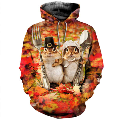 3D All Over Printed Squirrel T Shirt Hoodie 1512019