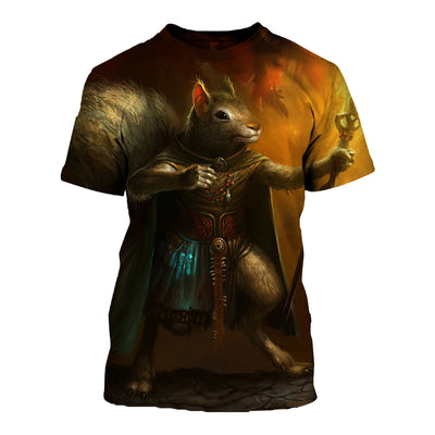 3D All Over Printed Squirrel T Shirt Hoodie 1512020